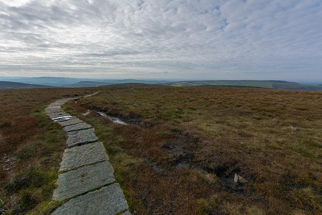 Follow the path toward Burnt hill
