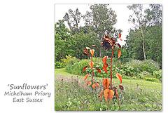 Sunflowers sculpture - Michelham Priory - 15.6.2016
