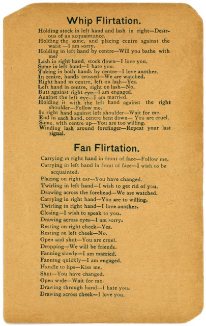 Whip and Fan Flirtations