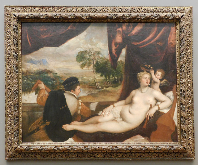 Venus and the Lute Player by Titian in the Metropolitan Museum of Art, February 2019