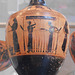 Terracotta Lekythos Attributed to the Amasis Painter in the Metropolitan Museum of Art, August 2019