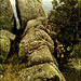 If you jumped over this rock you would fall a very long way!