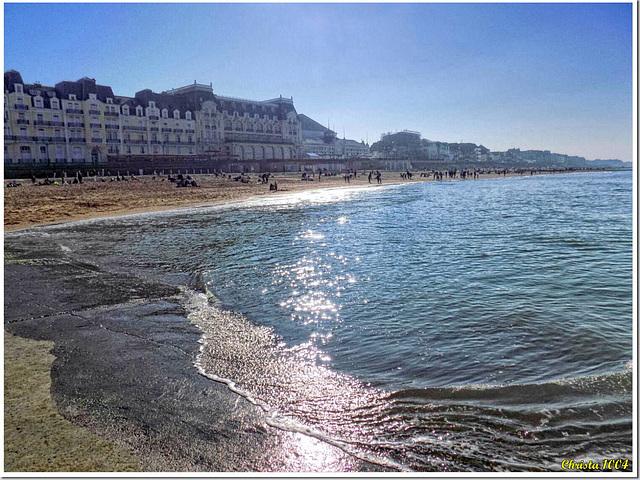 "The coastline called ""Côte fleurie"" (Flowery Coast)"