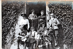 Col Forbes and family at Rothimay Castle, Moray, Scotland 1901 (Demolished)