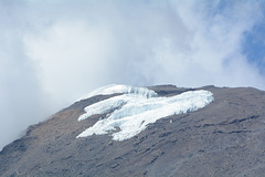 The Remains of the Glacier on the Kibo Caldera (the Top of Kilimanjaro)