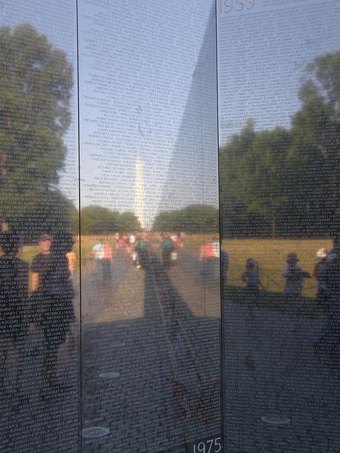 Reflection in the Vietnam War Memorial