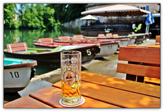 Rent a boat, or drink a beer - or both! (◕‿-)