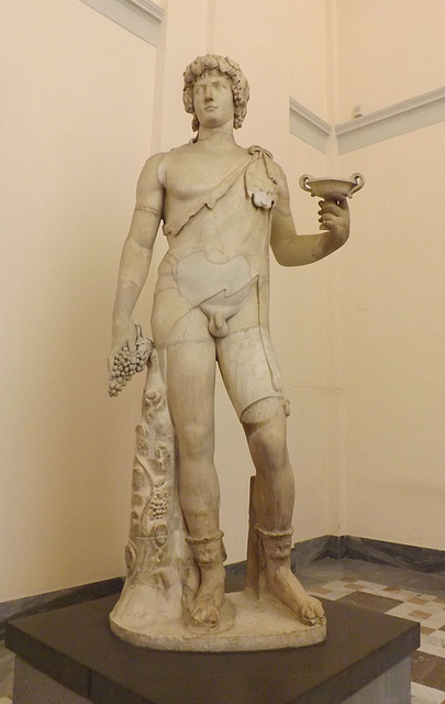 Antinous-Bacchus in the Naples Archaeological Museum, July 2012