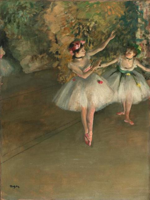 Edgar Degas : Deux danseuses sur scène (Du dancistinoj sur la scenejo)
