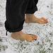 Füße im Schnee
