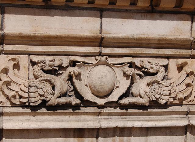Detail of Facade of Old Royal Pub, Cornwall Street, Birmingham