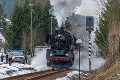 Sonderzug des LDC kurz vorm Bahnhof Holzhau
