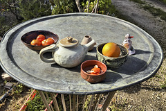 Tray With Pottery and Oranges – Kfar Hasidim Bet, Haifa District, Israel
