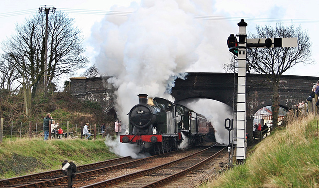 GWR 5600 Class no 5619 and GWR no  4936 depart Weybourne for Holt