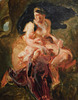 Detail of the Sketch of Medea About to Kill her Children by Delacroix in the Metropolitan Museum of Art, January 2019