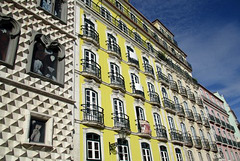 Casa dos bicos et autres immeubles. Lisbonne (Portugal)