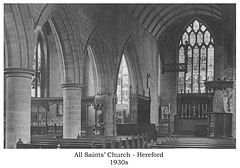 All Saint's Hereford 1930s interior 4net