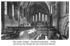 The Ladye Chapel, Hereford Cathedral 1930s 4net