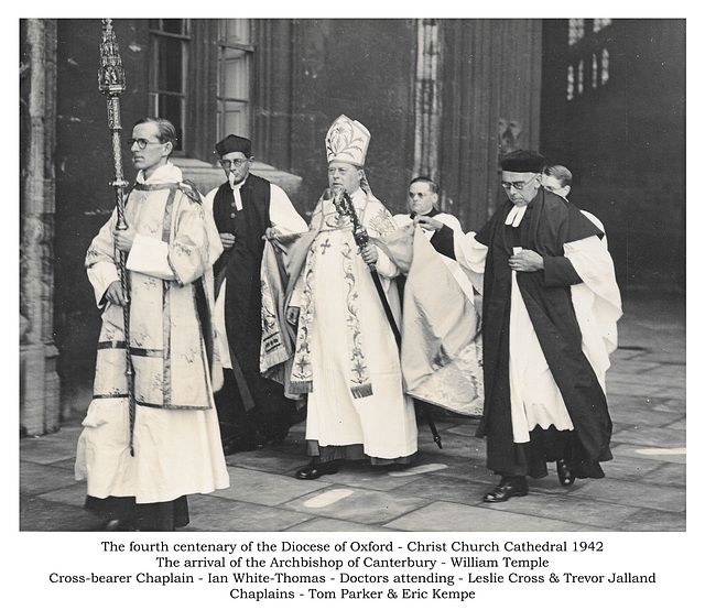 Oxford Diocese celebrates 400 years - Archbishop's arrival - 1942