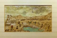"""""""Paysage extraterrestre avec bipèdes"""" (Hélène Smith - entre 1896 et 1900)"""