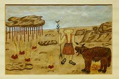"""""""Paysage ultramartien""""  (Hélène Smith - entre 1896 et 1900)"""