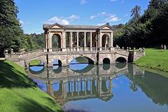 Palladian Bridge in Prior Park, Bath