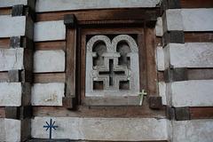 Ethiopia, The Cave Church of Yemrekhana Krestos, Closed Window