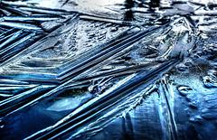Gefrorene Wasseroberfläche. ©UdoSm