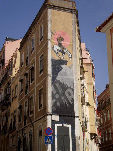 Corner mural.