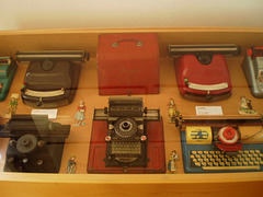 Typewriters as toys.