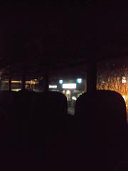 Rainy night bus ride