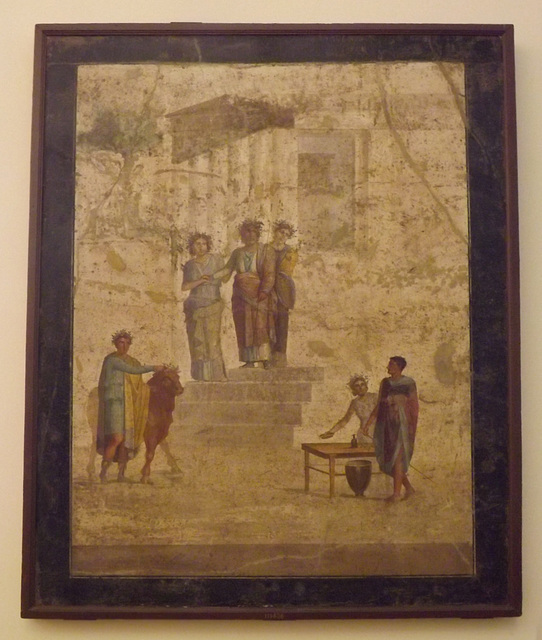 Wall Painting with Jason and Pelias in the Naples Archaeological Museum, July 2012