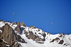 Luftseilbahn vom Mont Planipaz auf den Mont Le Brevant
