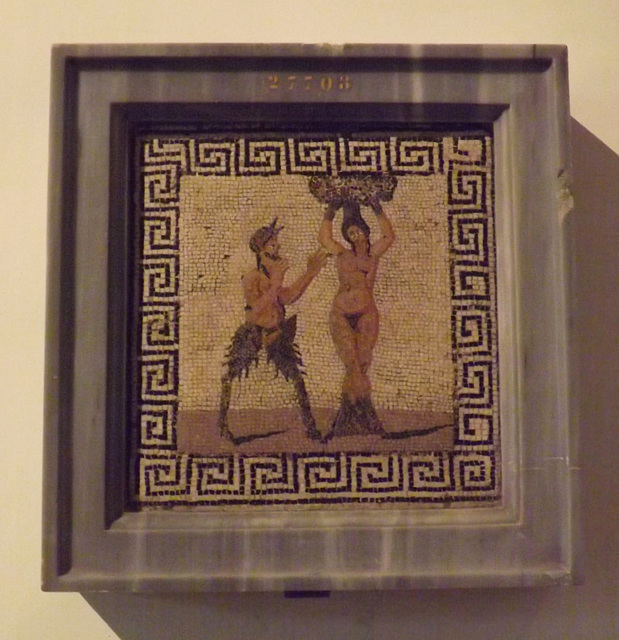 Pan and Amadriade Mosaic in the Naples Archaeological Museum, July 2012