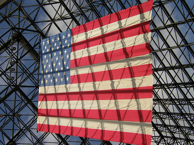 US Flag at the JFK Library