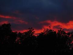 au coucher du soleil hier soir