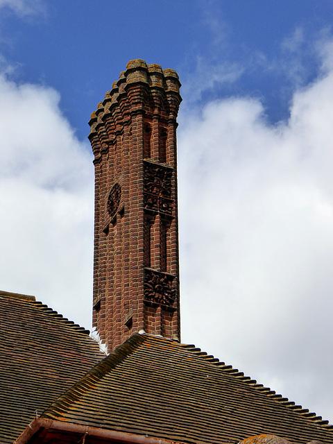 Decoratvie Brick Chimney stack
