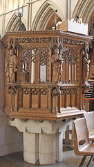 Southwark Cathedral pulpit - 12.12.2018