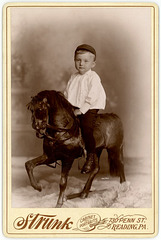 Roy Peiffer on Strunk's Studio Horse, Reading, Pennsylvania