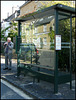 bus stop reflection