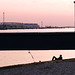 Fischer unter der Brücke -