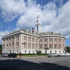 Ridiculous oddball 1933 expression of neoclassical/neofederal architecture of Schenectady City Hall.