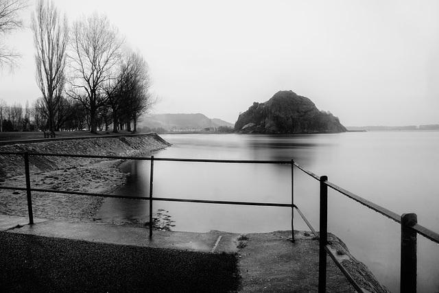 Dumbarton Rock in the Pouring Rain