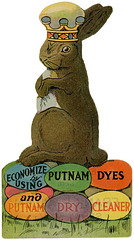 Easter Bunny Greetings from Putnam Dyes, ca. 1910s