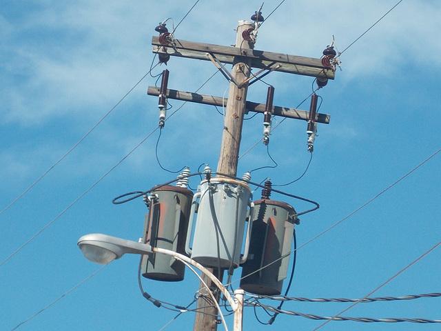 Old Georgia Power Transformer Pole
