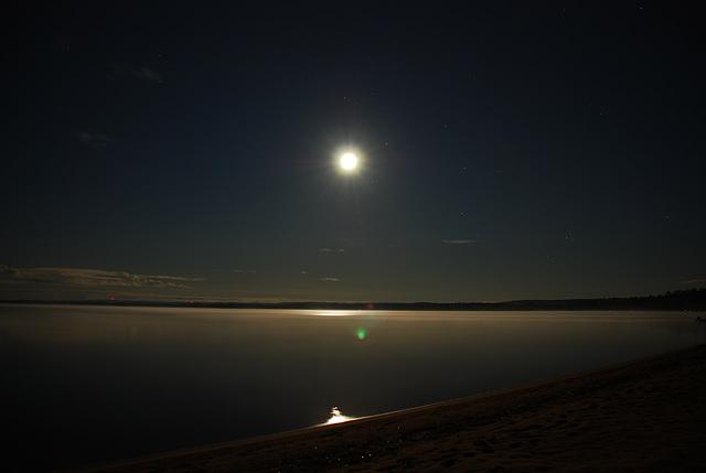 Lever de la Lune sur Round Lake, Canada - EXPLORE
