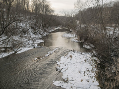 Here was Cross Creek looking fine in eastern Ohio, some old cold December day.