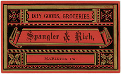 Spangler and Rich, Dry Goods and Groceries, Marietta, Pa.
