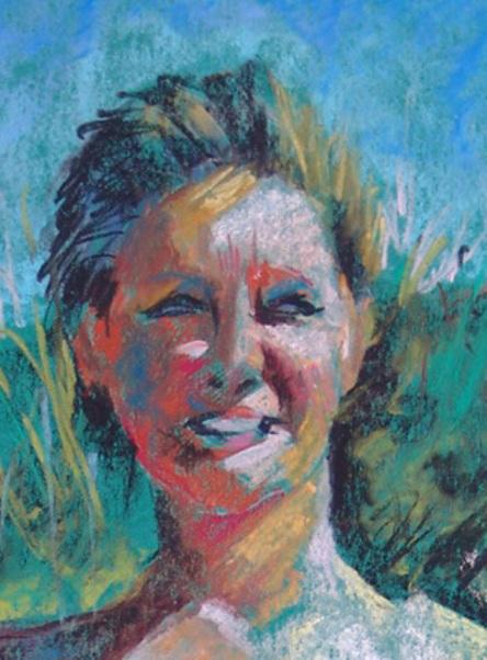 Bea, personal portrait, oilpainting