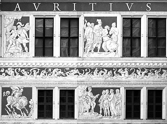 Sgraffito Dekoration am Residenzschloss